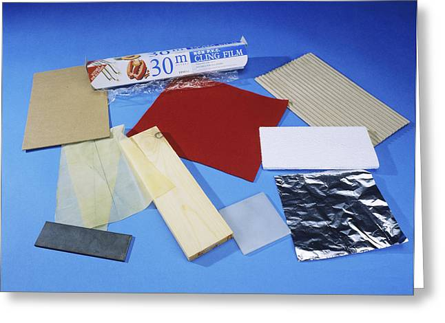 Corrugated Cardboard Greeting Cards - Friction Demonstration Materials Greeting Card by Andrew Lambert Photography