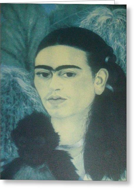 Unibrow Greeting Cards - Frida Kahlo 9 Greeting Card by Unique Consignment