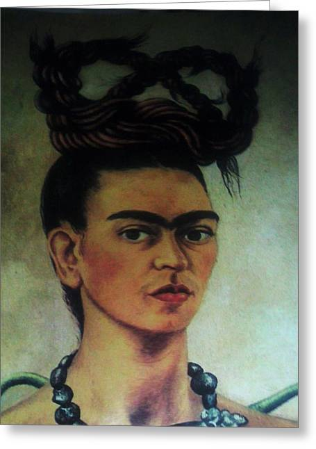 Unibrow Greeting Cards - Fridah Kahlo  Greeting Card by Unique Consignment