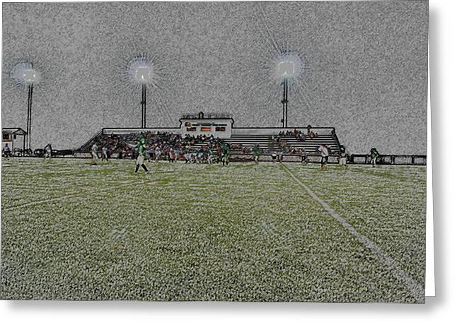 Light Tackle Greeting Cards - Friday Night Lights Digital Art Greeting Card by Thomas Woolworth