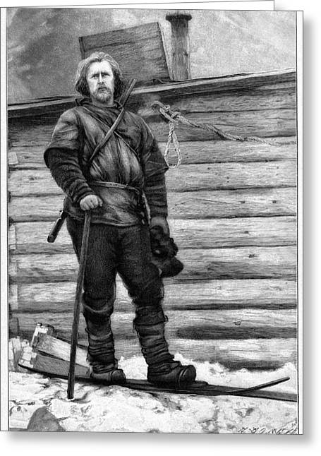 Nansen Greeting Cards - Fridtjof Nansen, Norwegian Explorer Greeting Card by Cci Archives