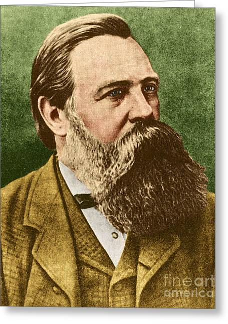 Engels Greeting Cards - Friedrich Engels, Father Of Communism Greeting Card by Photo Researchers
