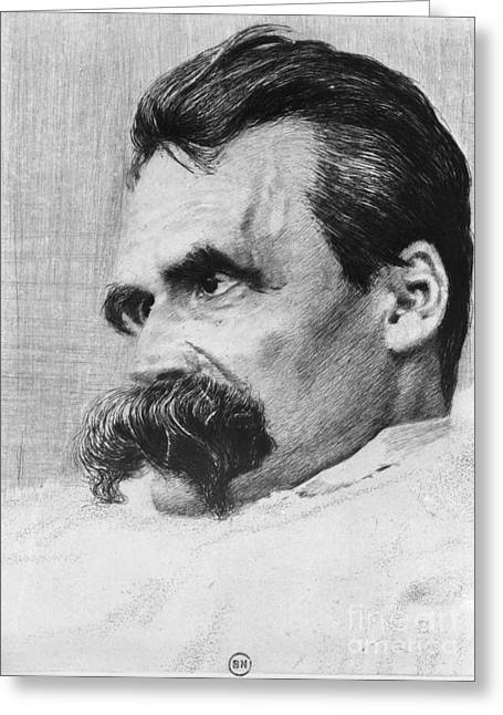 Questioning Greeting Cards - Friedrich Wilhelm Nietzsche, German Greeting Card by Photo Researchers