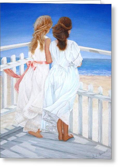 Seacape Paintings Greeting Cards - Friends Greeting Card by Elisabet DEpenoux