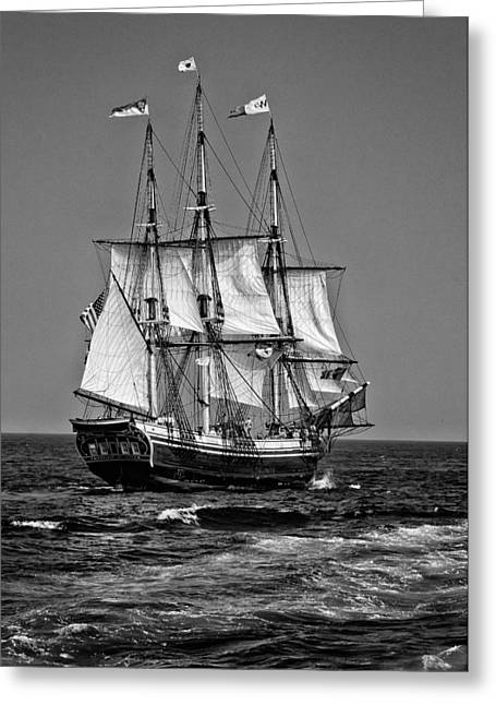 Schooner Greeting Cards - Friendship Greeting Card by Fred LeBlanc