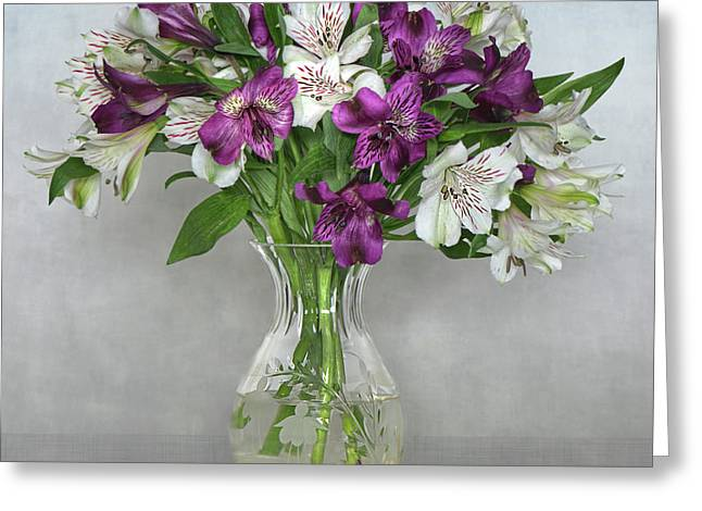 Alstroemeria Greeting Cards - Friendship Lilies Greeting Card by Jacky Parker