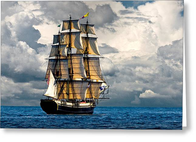 Schooner Greeting Cards - Friendship of Salem Greeting Card by Fred LeBlanc
