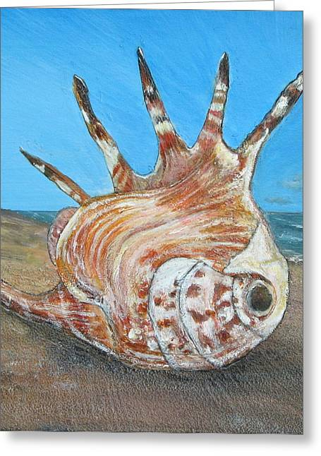 Sand Sculptures Greeting Cards - Friscos Shell Greeting Card by Coastal Fine Artistry