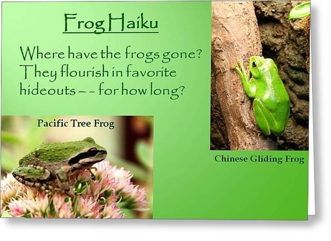 Frog Haiku Greeting Card by Laurel Talabere