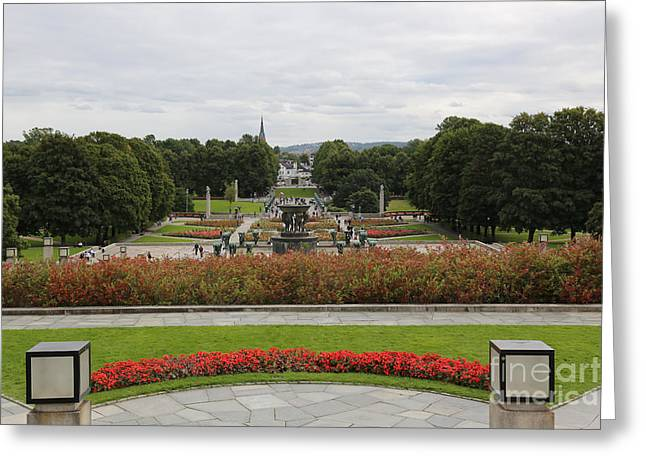 Oslo Photographs Greeting Cards - Frogner Park Greeting Card by Carol Groenen