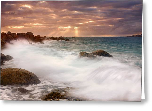 Heavenly Sunrise Greeting Cards - From Above Greeting Card by Mike  Dawson