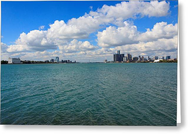 Ren Cen Greeting Cards - From Belle Isle With Love Greeting Card by Robin Konarz