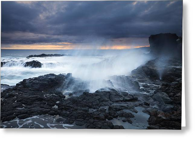 Koloa Greeting Cards - From Beneath Greeting Card by Mike  Dawson