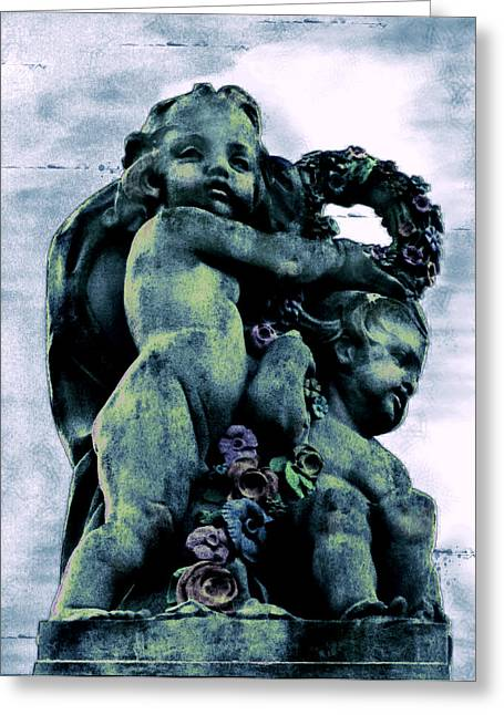 Original Art Photographs Greeting Cards - From Between the Cherubim Greeting Card by Colleen Kammerer