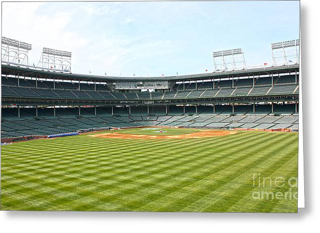 Friendly Confines Greeting Cards - From Center Greeting Card by David Bearden