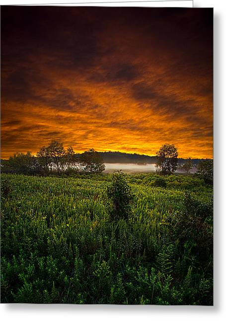 Geographic Greeting Cards - From Dusk till Dawn Greeting Card by Phil Koch
