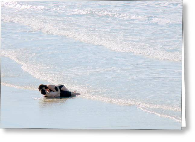 Couple Kissing On Beach Greeting Cards - From Here To Eternity Greeting Card by Jeff Lowe