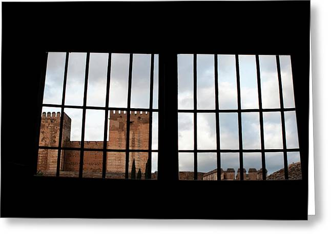 Southern Province Greeting Cards - From Inside Alhambra Greeting Card by Lorraine Devon Wilke