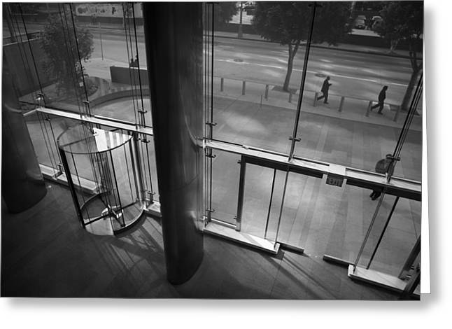 Down Town Los Angeles Greeting Cards - From Inside Greeting Card by Barry Elkins