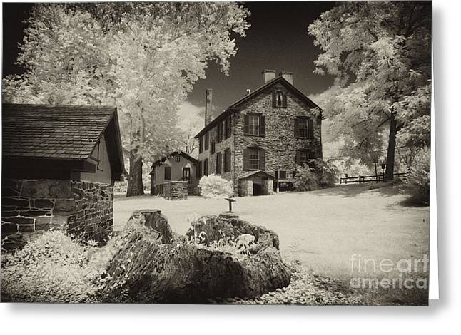 Stone House Greeting Cards - From the days of the Revolution Greeting Card by Paul W Faust -  Impressions of Light