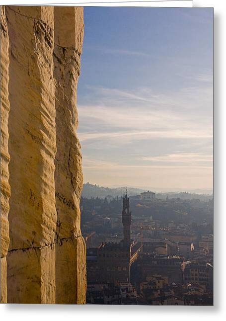Art Ferrier Greeting Cards - From the Duomo 1  Greeting Card by Art Ferrier