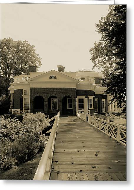 Monticello Greeting Cards - From the Garden to Home Greeting Card by DigiArt Diaries by Vicky B Fuller