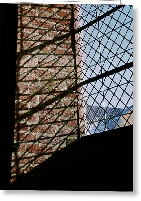 Window Bars Greeting Cards - From The Inside Greeting Card by Odd Jeppesen