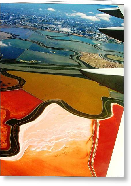 Abtract Greeting Cards - From the Plane I Greeting Card by Elizabeth Hoskinson