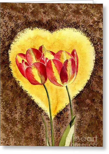 Wedding Greeting Cards - From Tulip With Love Greeting Card by Melly Terpening