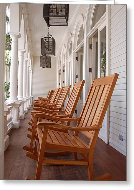 """front Porches"" Greeting Cards - Front Porch Greeting Card by Kelly Wade"