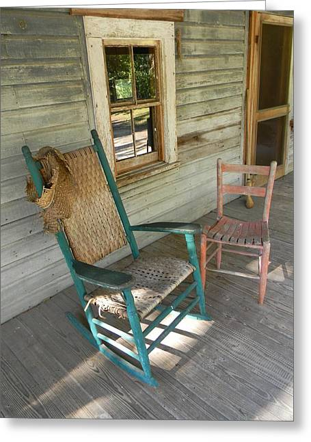 Screen Doors Greeting Cards - Front Porch Shadows Greeting Card by WarrenThompson