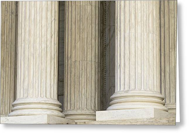 Front Steps and Columns of the Supreme Court Greeting Card by Roberto Westbrook
