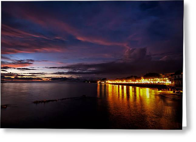 Lahaina Greeting Cards - Front Street Lahaina Greeting Card by Brent Schlea