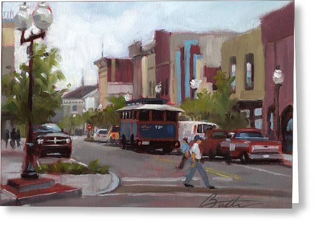 Main Street Greeting Cards - Front Street Greeting Card by Todd Baxter