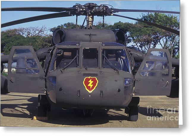 Aviation Display Greeting Cards - Front View Of An Army Hh-60 Pave Hawk Greeting Card by Michael Wood