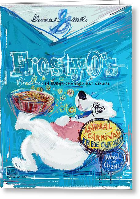 Frosty Mixed Media Greeting Cards - Frosty Os Greeting Card by Russell Pierce