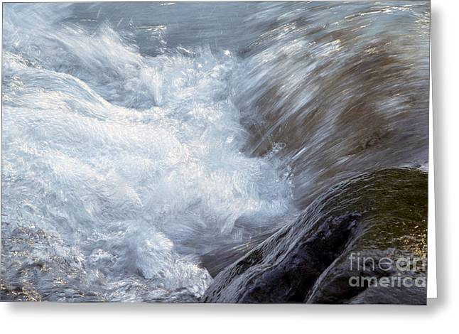 Water In Creek Greeting Cards - Froth Greeting Card by Sharon  Talson