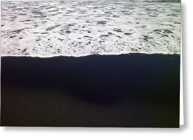 Light And Dark Greeting Cards - Frothy Pacific ocean Greeting Card by Raul Touzon
