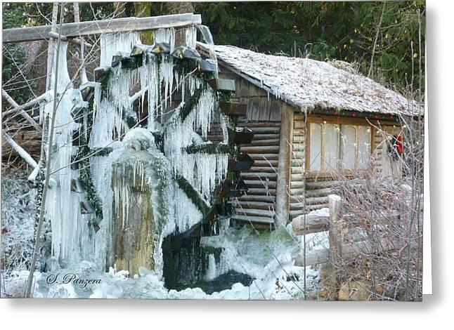 Abandond Greeting Cards - Frozen Dalby Waterwheel Greeting Card by Samantha Panzera