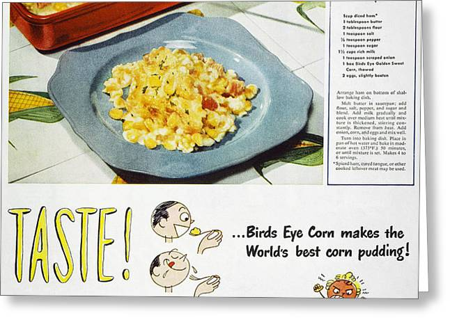FROZEN FOOD AD, 1947 Greeting Card by Granger