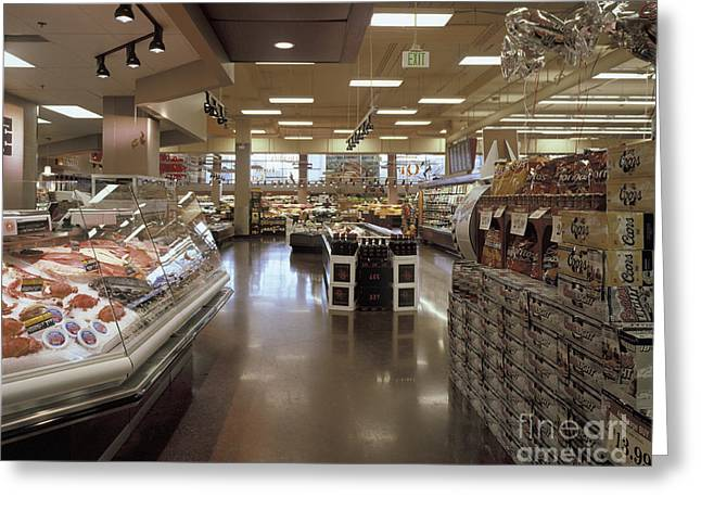 Frozen Food And Beer Aisle Greeting Card by Robert Pisano