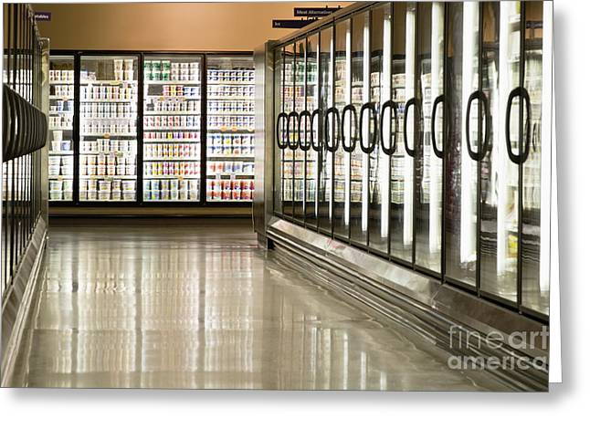 Grocery Store Greeting Cards - Frozen Food Section Greeting Card by Andersen Ross