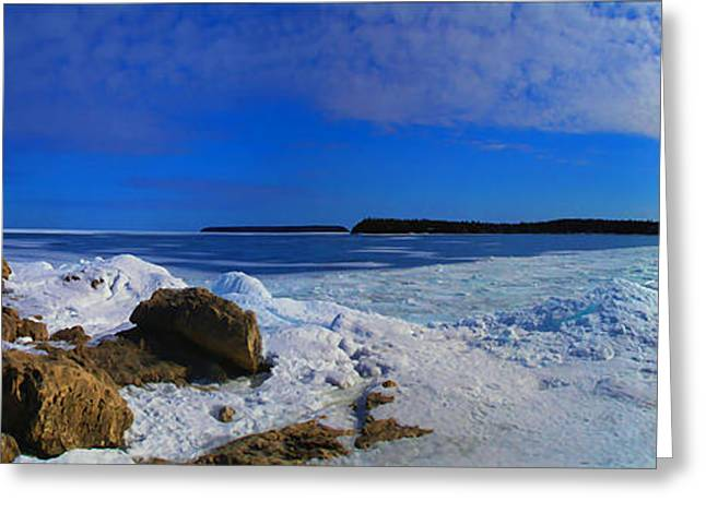 Frozen Lake Greeting Card by Photography Art