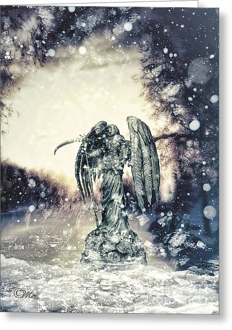 Stones Greeting Cards - Frozen Greeting Card by Mo T