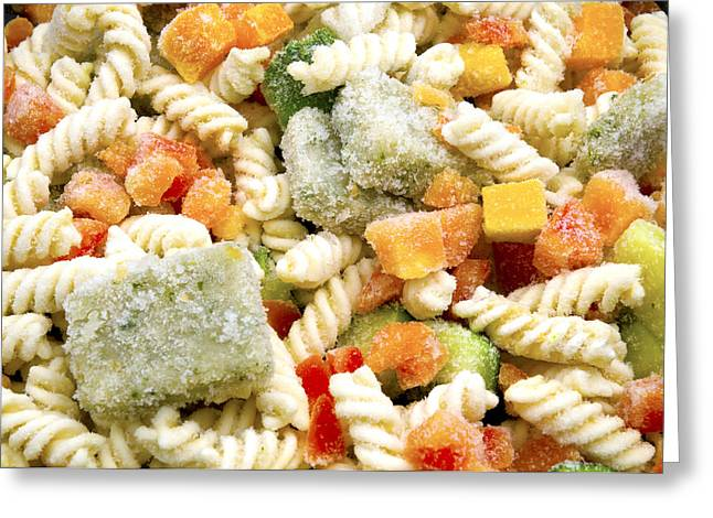 Italian Food Greeting Cards - Frozen Pasta Greeting Card by Fabrizio Troiani