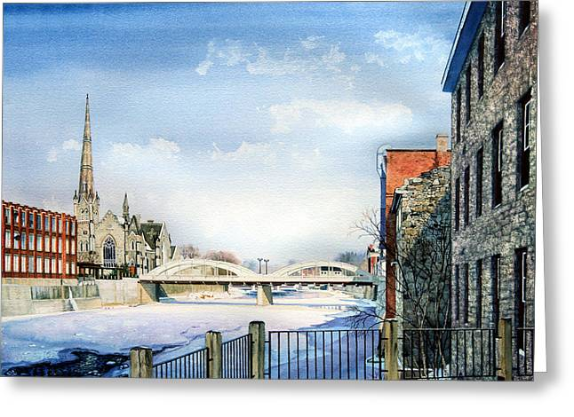 Frozen Shadows On The Grand Greeting Card by Hanne Lore Koehler