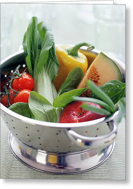 Melon Greeting Cards - Fruit And Vegetables Greeting Card by David Munns
