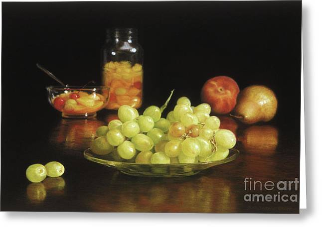 Fruit Pastels Greeting Cards - Fruit Cocktail Greeting Card by Barbara Groff