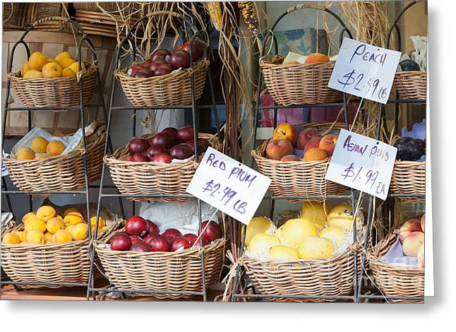 Grocery Store Greeting Cards - Fruit for Sale Greeting Card by Clarence Holmes