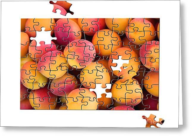 Fruit jigsaw1 Greeting Card by Jane Rix
